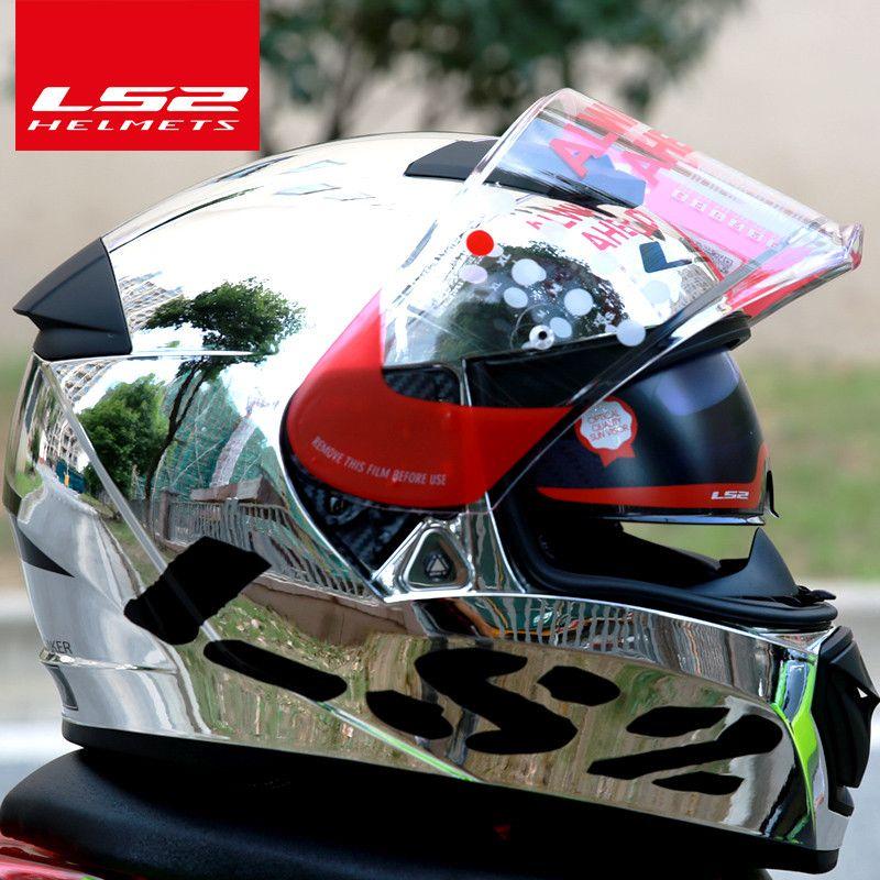 LS2 global store LS2 FF390 Breaker Chrome-plated helmet Ninja Full Face Motocycle helmet Free Pinlock Fog-Free System helmet