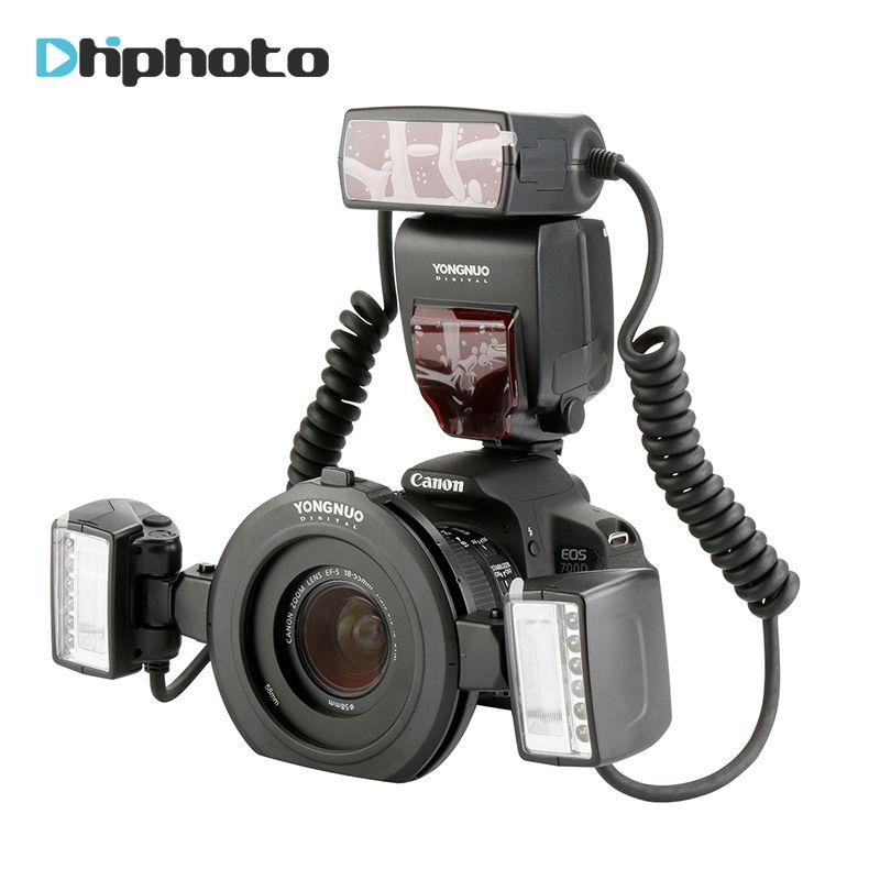 Yongnuo YN24EX E TTL Twin Lite Macro Flash Speedlite pour Canon Caméras avec Double 2 pcs Flash Tête + 4 pcs Adaptateur anneaux