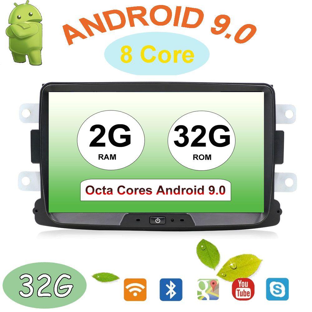 32G ROM Octa Cores Android 9.0 Radio auto gps Navi Für Duster Dacia Logan Sandero stereo Zentralen Kassette Player Kamera