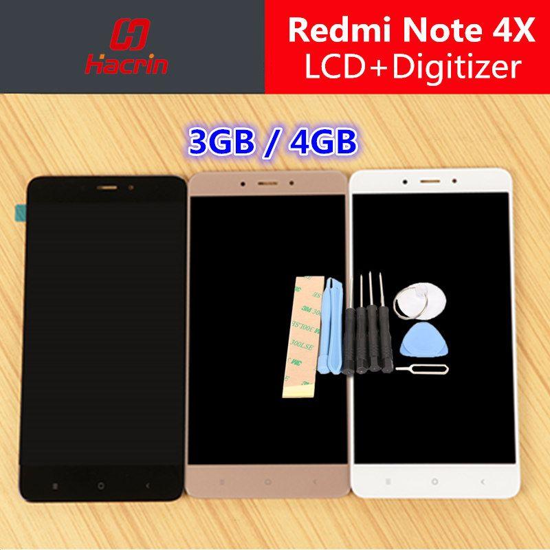 Xiaomi Redmi Note 4X LCD Display + Écran Tactile Digitizer Remplacement Test-Bon Pour Xiaomi Redmi Note 4X Pro 5.5 téléphone