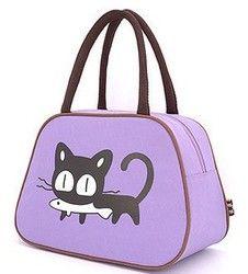 Vente mignon isolé cartoon oxford sac à lunch pour les femmes enfants lunchbags fourre-tout avec fermeture éclair refroidisseur boîte à lunch sac d'isolation