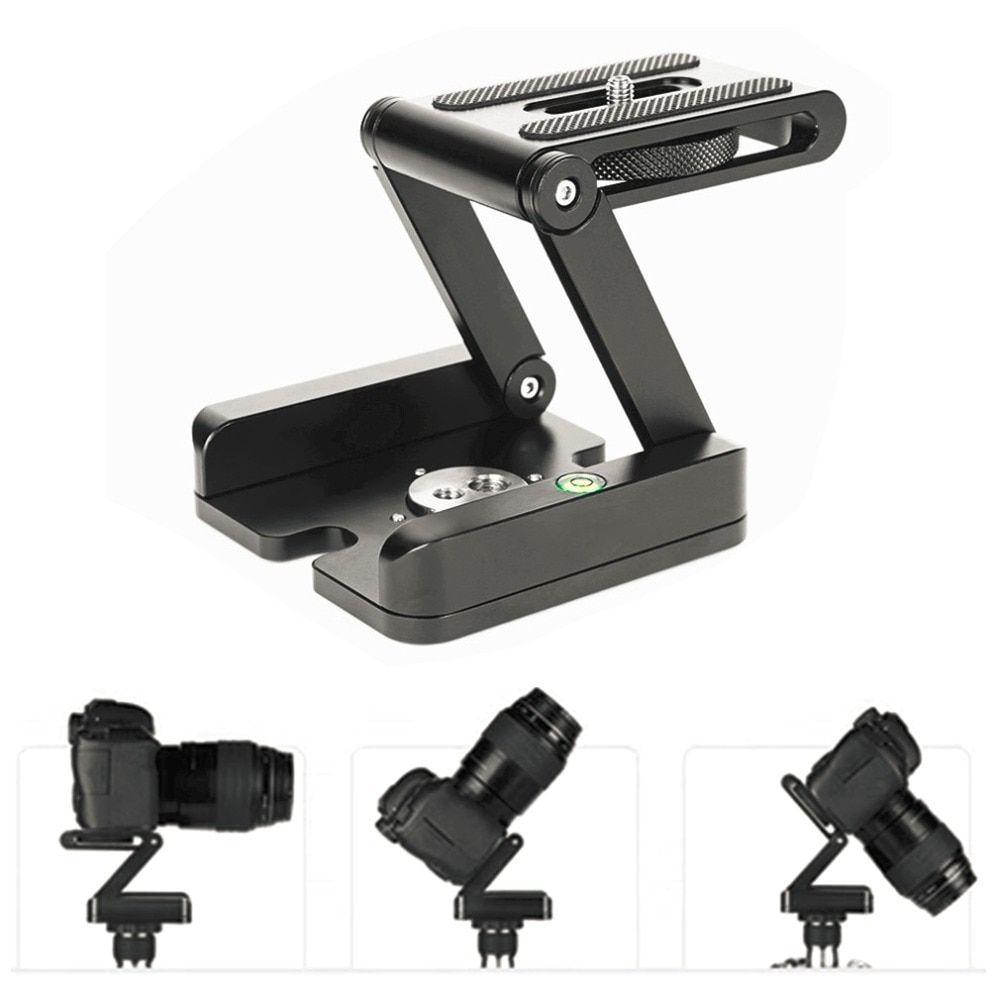 Support de support pliant de Type Z Kit de trépied professionnel tête inclinable à tête sphérique pliable Compatible avec le caméscope