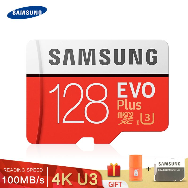 Carte mémoire SAMSUNG EVO 32G 95 mo/s SDHC MicroSD 64 go 128 go 256 go 4 K 100 mo/s SDXC classe 10 Micro SD C10 UHS TF cartes Flash Trans