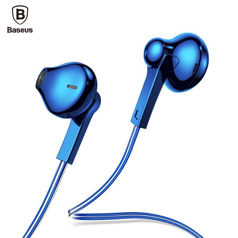Baseus H03 In-Ear Wired Earphone Plating Headset For Phone Fone De Ouvido Kulakl K Jack 3.5mm Stereo Earbuds Earpiece with Mic