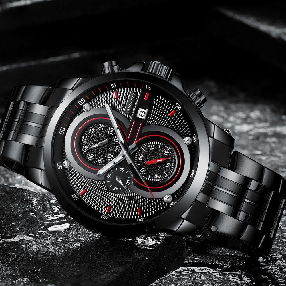 GIMTO Brand Cool Men Sport Watch Creative Luxury Steel Clock Military Male Boy Quartz Fashion Casual Watches Relogio Masculino