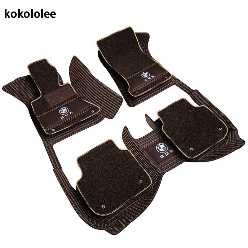 kokololee Custom car floor mats for BMW e30 e34 e36 e39 e46 e60 e90 f10 f30 x1 x3 x4 x5 x6 1/2/3/4/5/6/7 car accessories styling