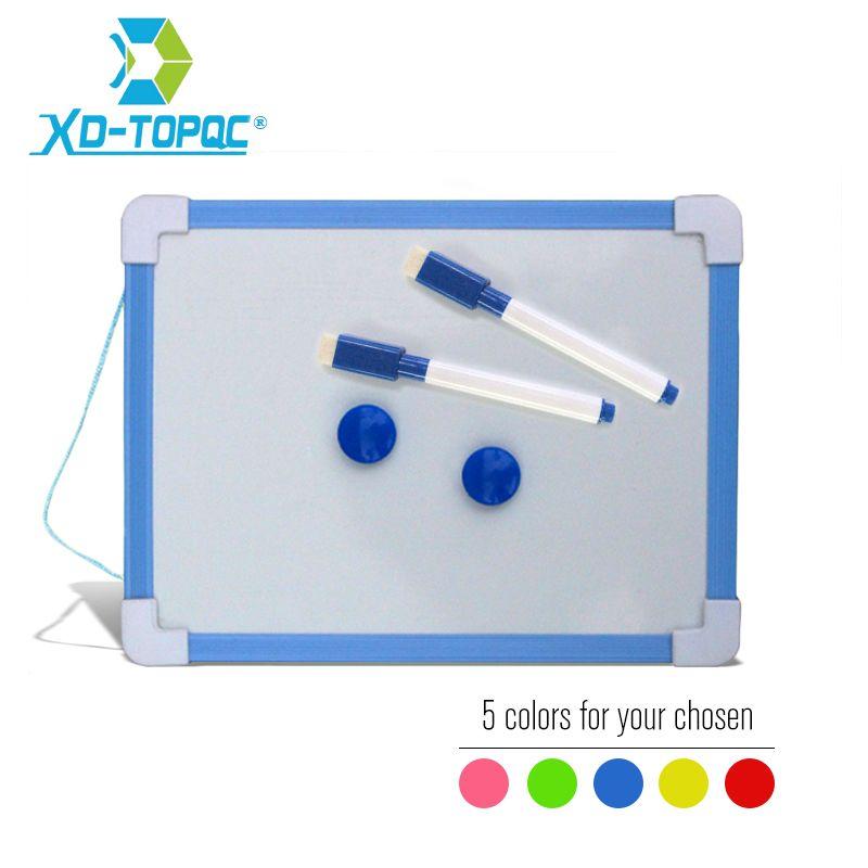 20.5*15.6 cm tableau blanc magnétique enfants tableau sec lingette 5 couleurs cadre Mini dessin tableau blanc petits tableaux effaçables suspendus avec stylo