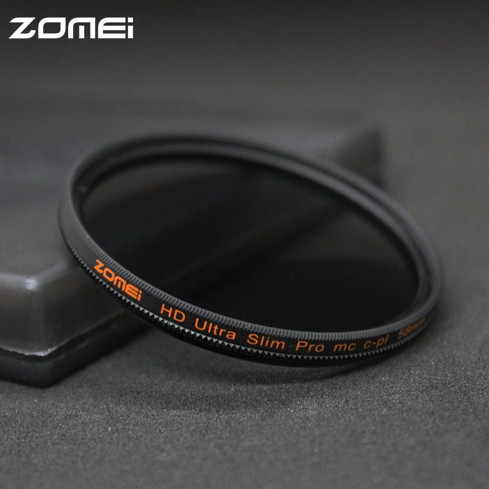 Zomei 49/52/55/58/62/67/72/77/82mm filtre polarisant CPL Slim Pro HD MC filtre polarisant circulaire pour Canon Nikon Sony Pentax