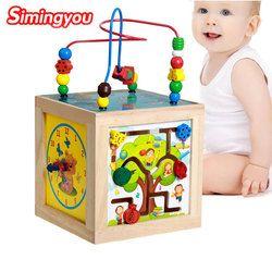 Simingyou Brinquedos multi-fungsional Kotak Kebijaksanaan Jeux En Bois Educatif Bois D10-E24 Drop Pengiriman