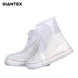 Giantex Pria Wanita Tahan Air Hujan Flat Ankle Boots Cover Sepatu Boots Sepatu Covers Tebal Non-slip Platform Hujan sepatu Bot