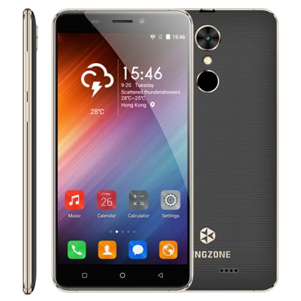 KINGZONE S3 Shockproof 5.0'' Screen Android 6.0 Mobile Phone MTK6580A Quad Core 1.3GHz ROM 8/16GB RAM 1GB Dual SIM 3G WCDMA GSM