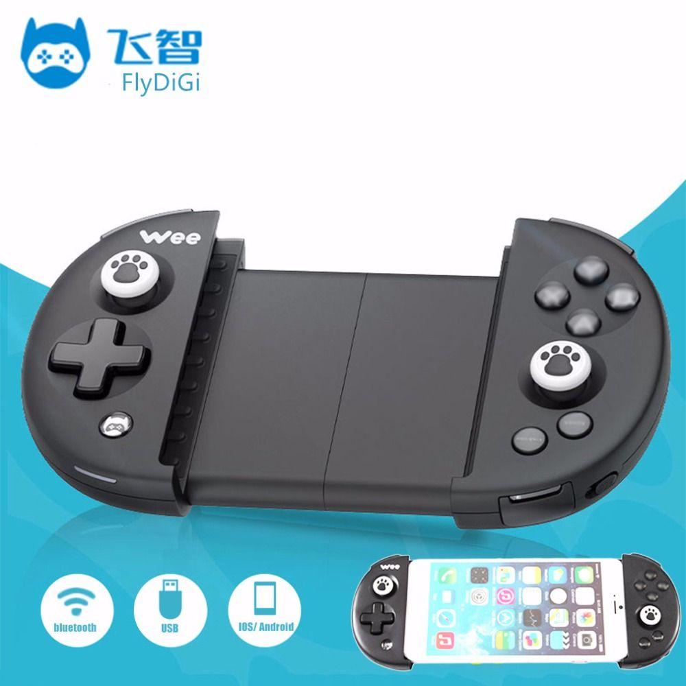 Flydigi Ви Беспроводной Bluetooth 4.0 Gamepad пульта дистанционного управления игровой Игровые с USB кабель для мобильного телефона игры Интимные аксесс...
