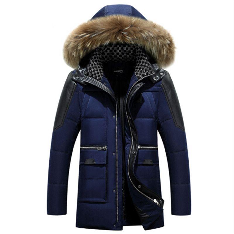 AILOOGE Weiße Ente Mantel Winterjacke Männer 2017 Männer Verdicken mantel Mit Kapuze Mantel Männer Winter Designer Winterjacken Männer Jackert