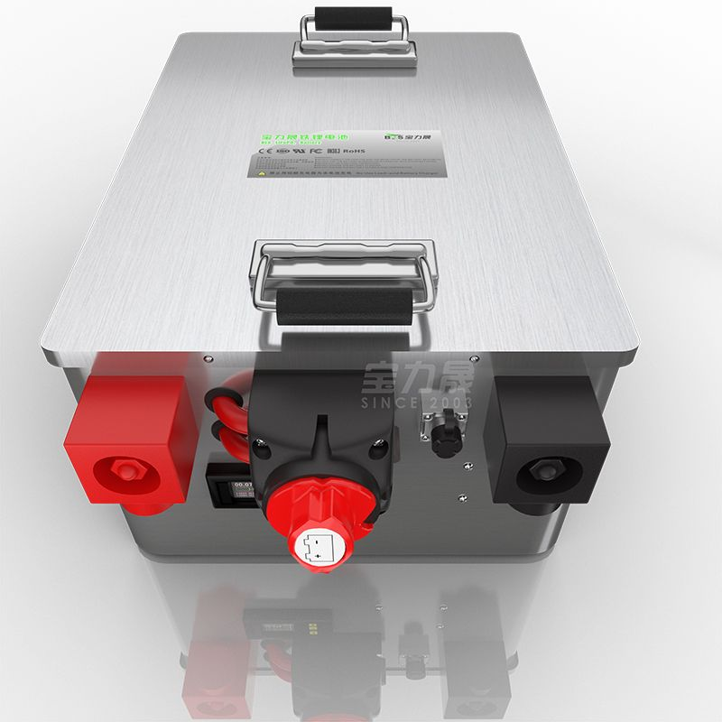 LiFePo4 Batterie 12V24V36V48V 100AH 120Ah 200AH edelstahl box Mit BMS-schalter-coulometer power station solar EV RV
