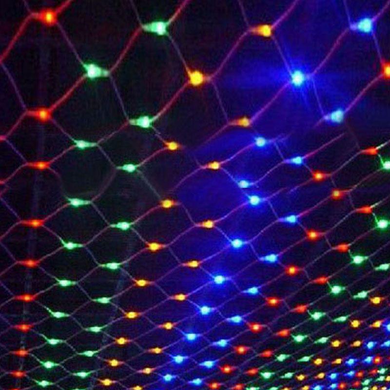 String Lights 1.5M x 1.5M 96LEDs Net Mesh Fairy Twinkle flash lamp Home Garden Christmas Wedding Xmas tree Party Garland Decorat