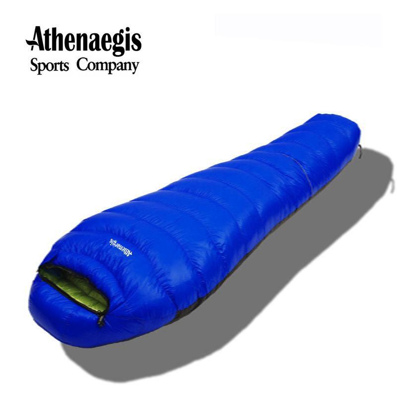 Athenaegis neue stil weiße gänsedaunen 1500g/1800g/2000g/2200g füllung gespleißt umschlag erwachsene wasserdichte winter schlafsack