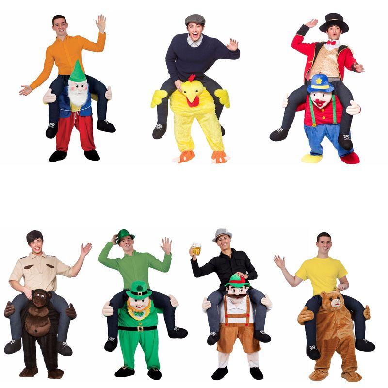 2018 New Ride on Bear Oktoberfest Costume Animal Funny Dress Up Halloween Cosplay Fancy Pants Novelty Mascot Custome In stock