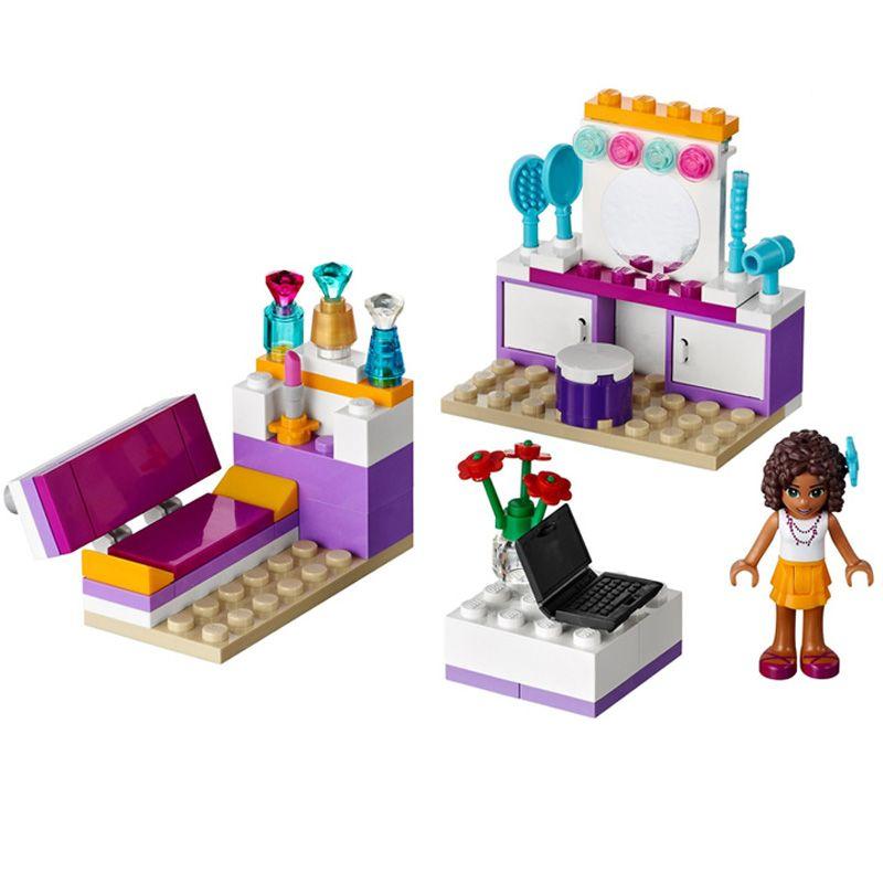 10153 amis Andrea chambre blocs de construction ensemble filles développement intellectuel jouets compatibles amis maison 41009