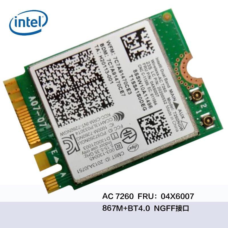 Y70-70 Y70-80 B40 B50 N40-30 WIFI 7260AC INTEL7260 AC 04X6007 WiFi + Bluetooth 4.0 carte Wifi