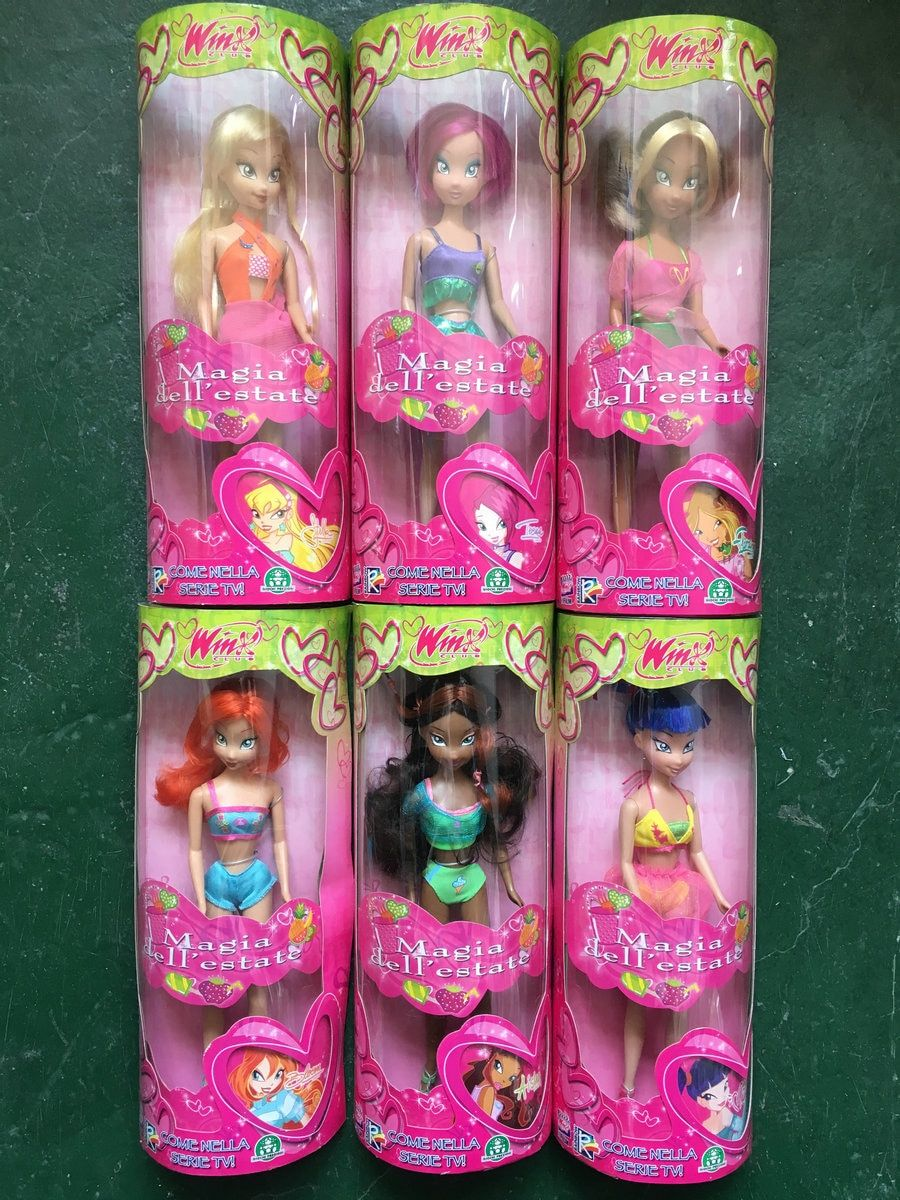 Original Winx club Bloom Musa Beautiful girl Action Figures Basic Fashion Doll Concert Collection