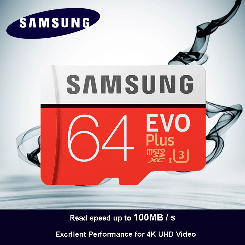 100% Original SAMSUNG Micro SD card 64 GB u3 Memory Card EVO Plus 64GB Class10 TF Card C10 80MB/S MICROSDXC UHS-1 Free Shipping