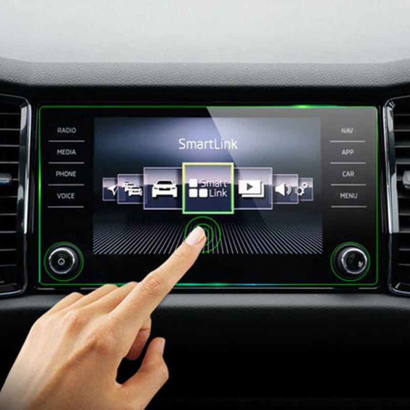 8 pouces pour Skoda Kodiaq Karoq 2017-2019 verre trempé voiture Navigation écran protecteur affichage Film LCD autocollant de protection 2018