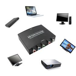 RGB Komponen (YPbPr) video + R/L audio Adapter Converter HD TV untuk HDMI 1080 P WP Z1024 DROPSHIP