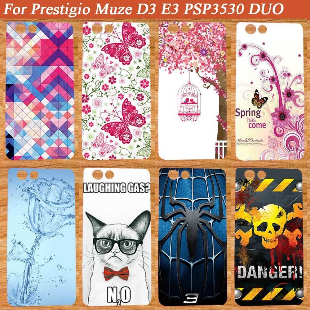 Nouveau Mode Tpu Silicone De Protection Couverture de Téléphone BRICOLAGE Cas pour Prestigio Muze D3 PSP3530 DUO 3530 Duo Téléphone Retour couvre