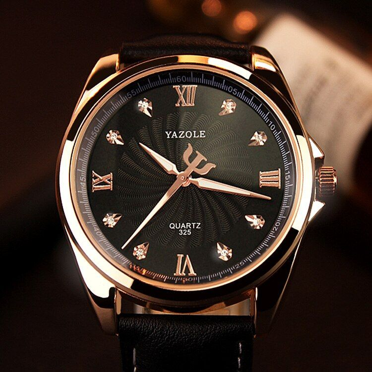 YAZOLE 2018 Quartz Watch Men Diamond Mens Watches Top Brand Luxury Famous <font><b>Wristwatches</b></font> For Male Clock Hodinky Relogio Masculino