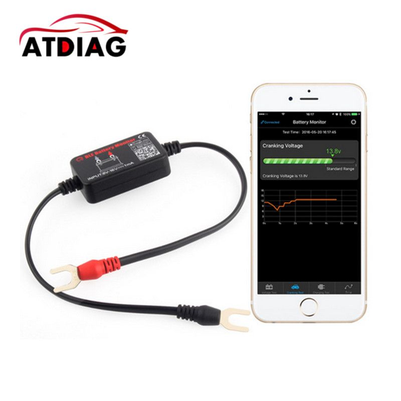 12V Bluetooth 4.0 BM2 Battery monitor Tester Diagnostic Tool for Android IOS iphone Digital Analyzer Battery Measurement Units