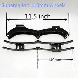 Inline Roller Skating Frame 11.5 Inci 7005 Paduan Aluminium untuk 3*110 Mm Kecepatan Skating Sepatu Bagian