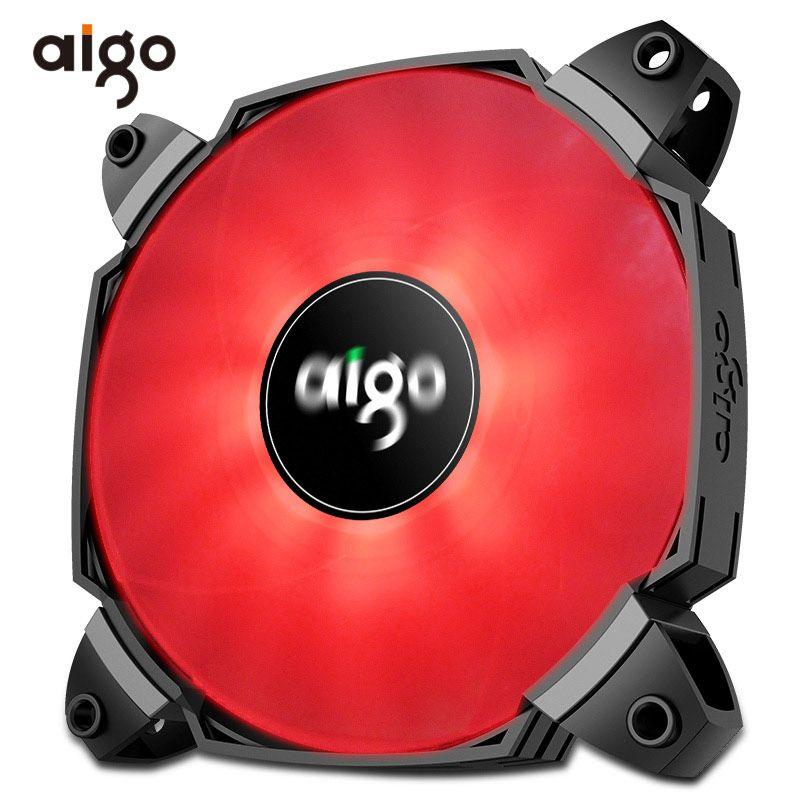 Aigo Computer PC Case Fan 12V Single Color Light Fan Cooler 2 Blades Turbocharged Cooling Fan 120mm PMW Controller ICY BX12