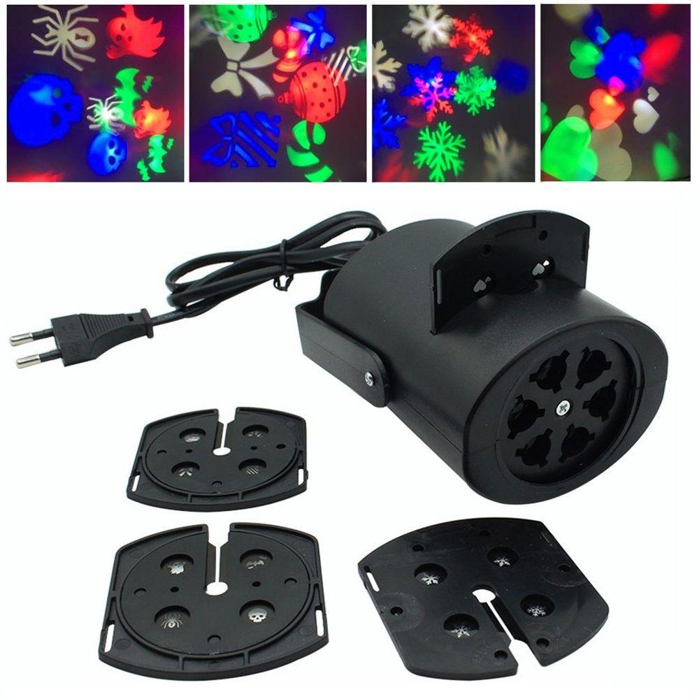 Mini projecteur lumière de la scène lampe de flocon de neige multicolore neige disco laser light party De Noël de vacances led logo lumière 4 modèles