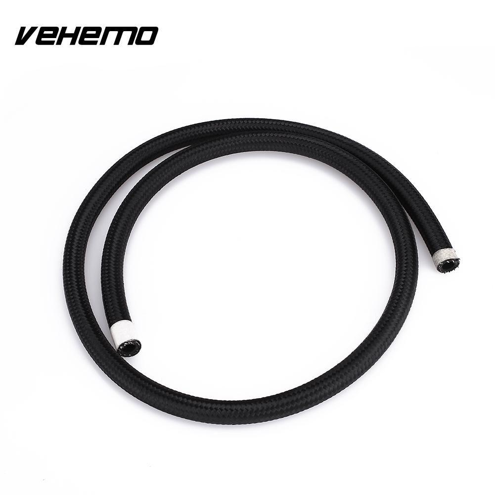 Vehemo Cars Truck Stainless Steel Braided Teflon Durable Soft Hoses Tube 1m Clutch Oil