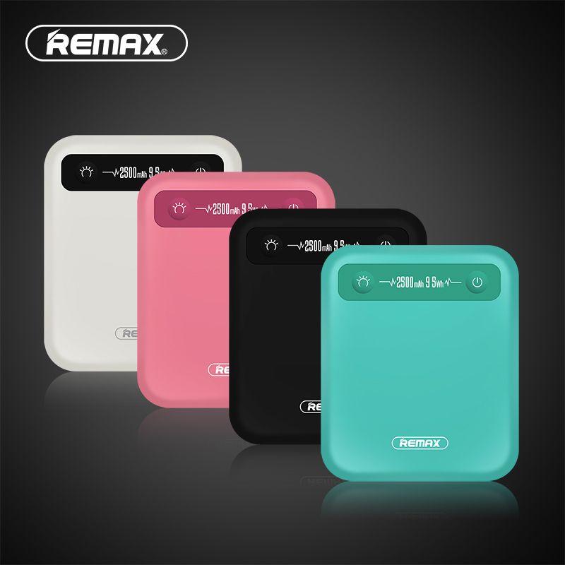 REMAX PINO Puissance Banque 2500 mah 9.5Wh Mini Chargeur Portable Batterie Polymère Batterie Externe Banque De Puissance pour iphone Xiaomi