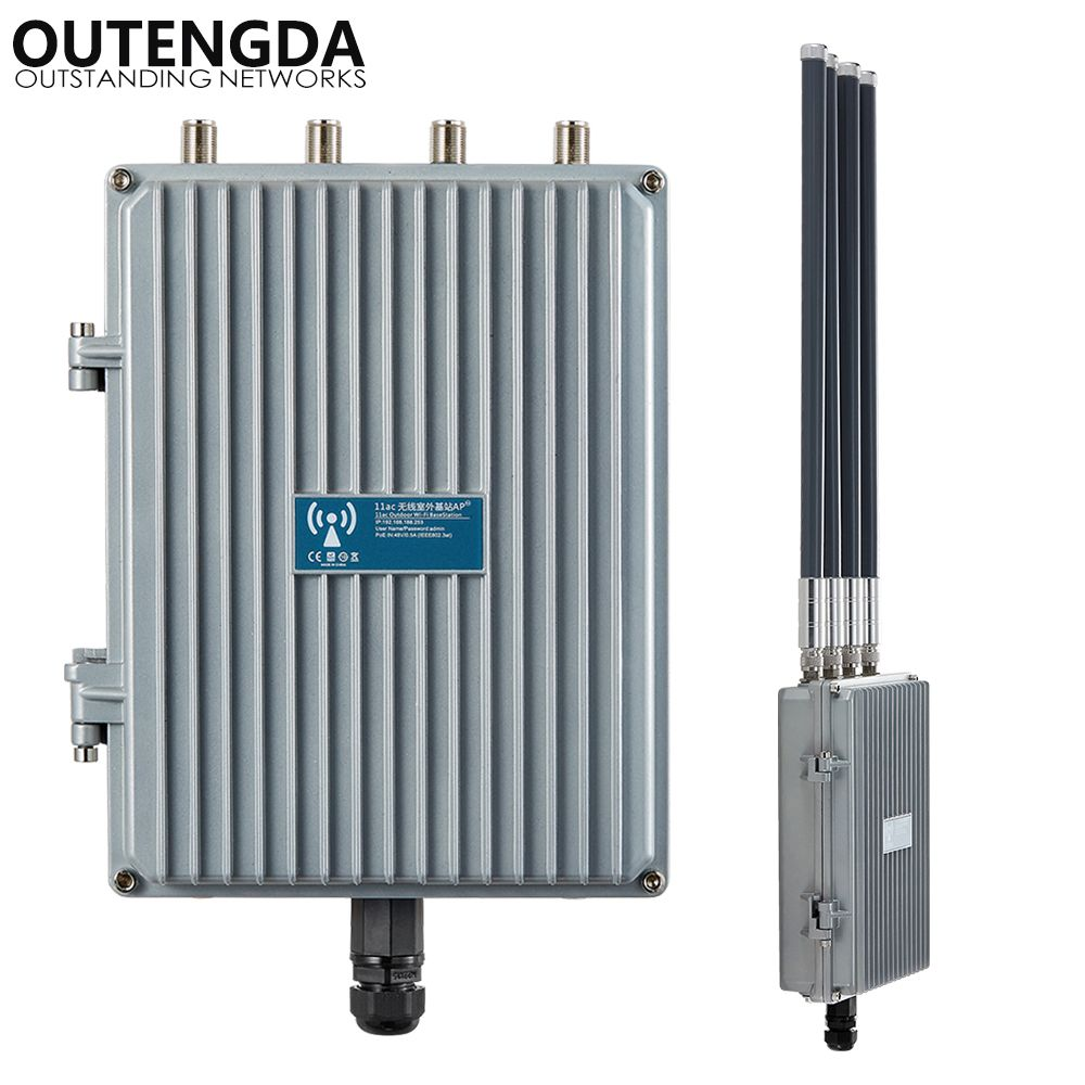 1200 Mbps 48 V PoE Außen AP CPE 802.11ac Dualband 2,4G & 5,8G Wireless Access Point WiFi Signal Booster mit OMNI ANT