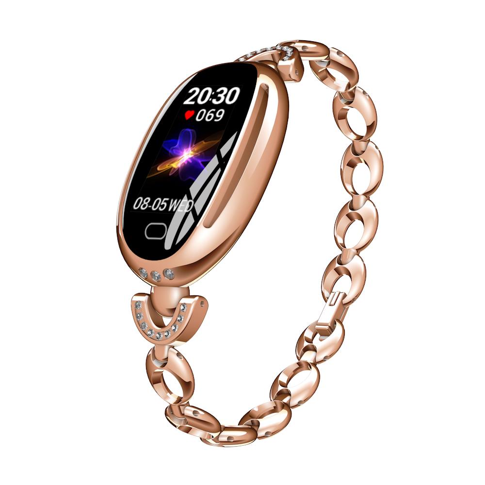Mode Smart Uhr Frauen Fitness Tracker Heart Rate Monitor Wasserdicht Armband Schrittzähler Sport Uhr für Xiaomi Telefon 2019