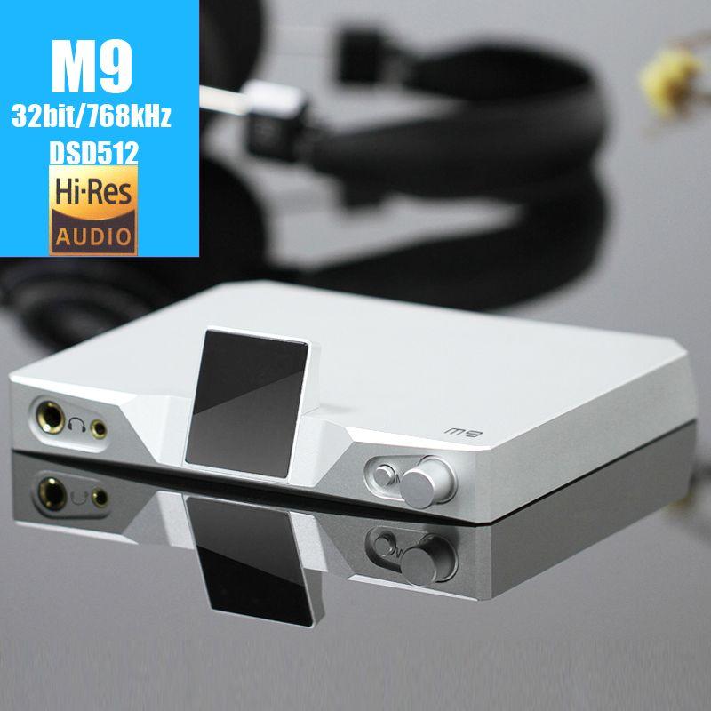 SMSL M9 USB DAC XMOS 32bit/768 kHz DSD512 AK4490 * 2 audio HiFi Digital-Decoder Optische/Coaxial/USB Dac-kopfhörerverstärker AMP