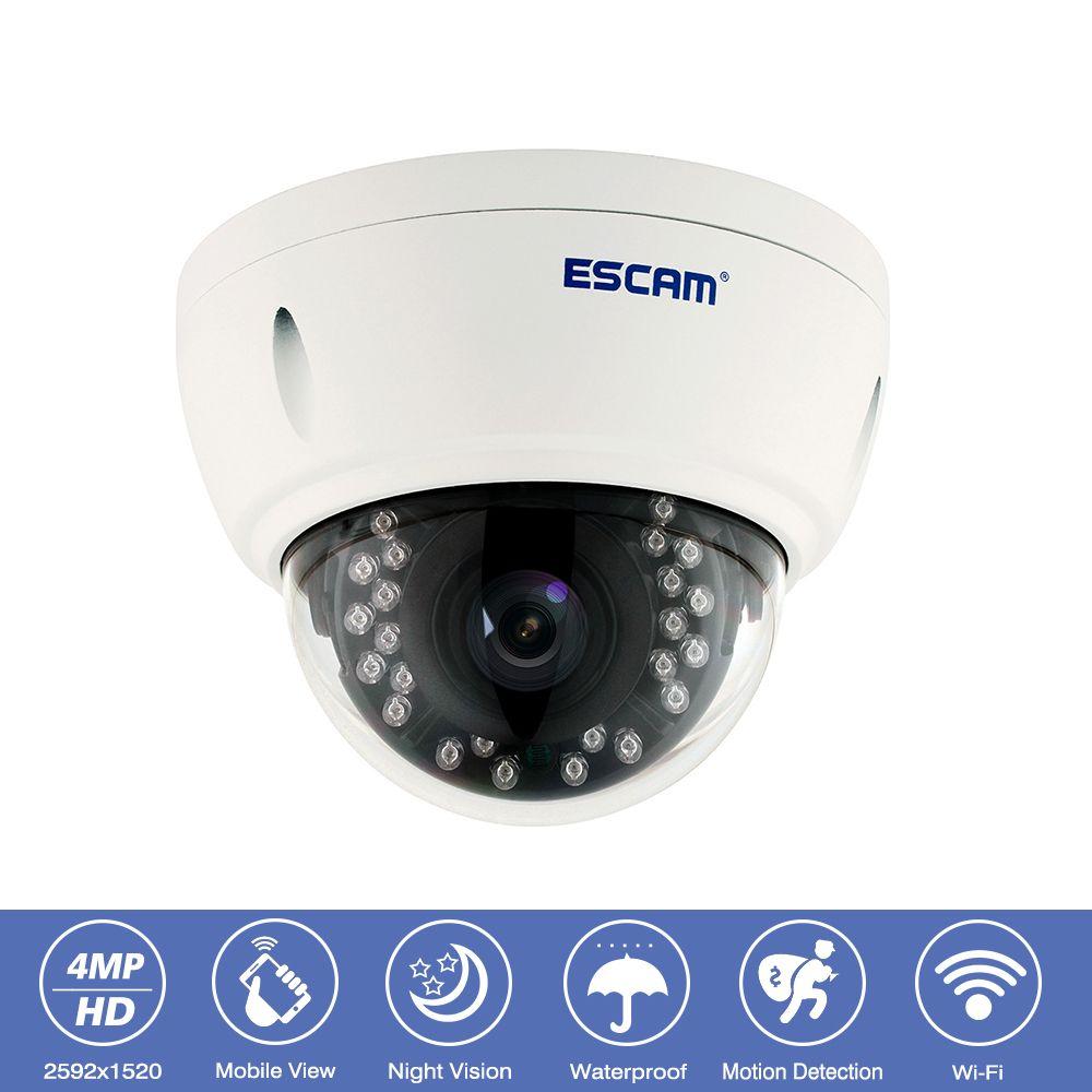 Escam QD420 Outdoor IP66 Waterproof CCTV Surveillance Wifi IP Camera 4MP Onvif P2P IR Night Vision Wireless Security Dome Camera