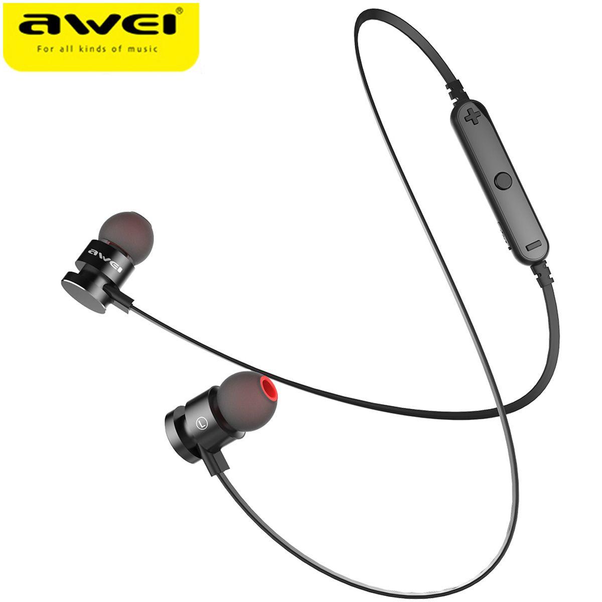 2017 Más Reciente T11 AWEI Auriculares Inalámbricos Bluetooth Banda Para El Cuello Auriculares Écouteur Fone de ouvido Auriculares Para Teléfono Bluetooth V4.2