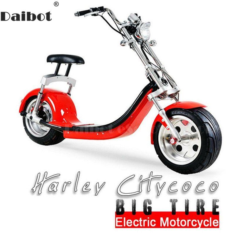Daibot Elektrische Roller Harley Citycoco Zwei Rädern Elektro Roller 60 V 1500 W Elektrische Roller Motorrad Für Erwachsene