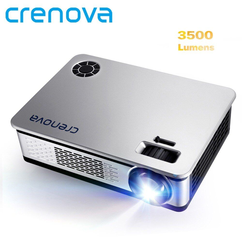 CRENOVA 3500 Lumens Video Projector For Full HD <font><b>1920</b></font>*1080 Android Projector With WIFI Bluetooth Android 7.1 OS LED Beamer
