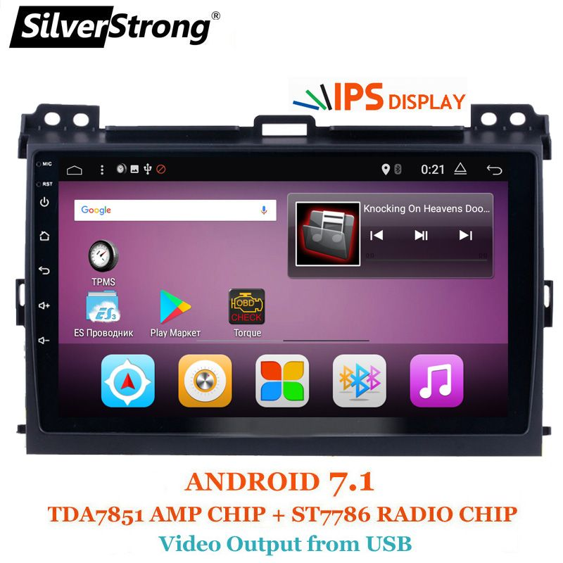 SilverStrong Android7.1 9inch Car GPS Radio For Toyota Prado 120 Land Cruiser android7.1 IPS Prado120 for PIONEER/JBL amp
