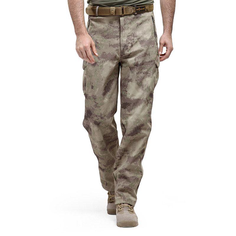 Shark Skin Softshell Tactical Military Camouflage Pants Men Winter Army Waterproof Warm Fleece Sport Camo Hunting Outdoor Pants