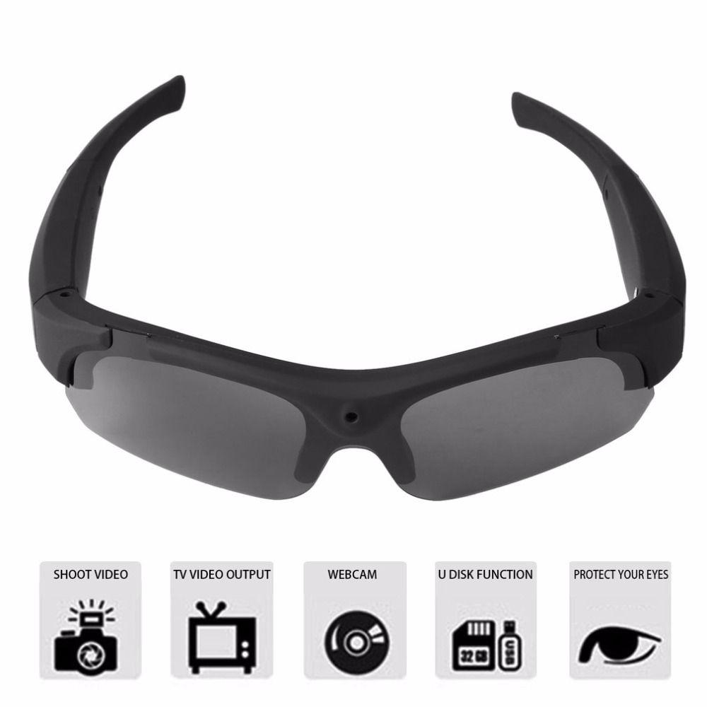1080 p HD polarizadas intercambiables-lentes Gafas de sol Cámara video recorder deportes Gafas de sol videocámara Eyewear video