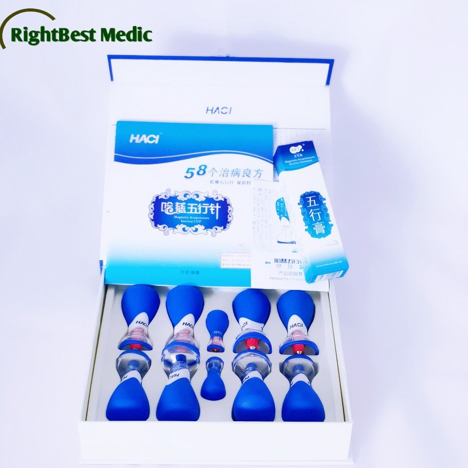 Exclusive Factory Deluxe New HACI Magnetic Acupressure Suction Cupping Set - 10 Cups Cupping Hijama