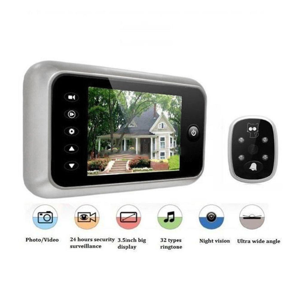 3.5  LCD T115 Color Screen Doorbell Viewer Digital Door Peephole Viewer Camera Door Eye Video record 120 Degrees Night vision
