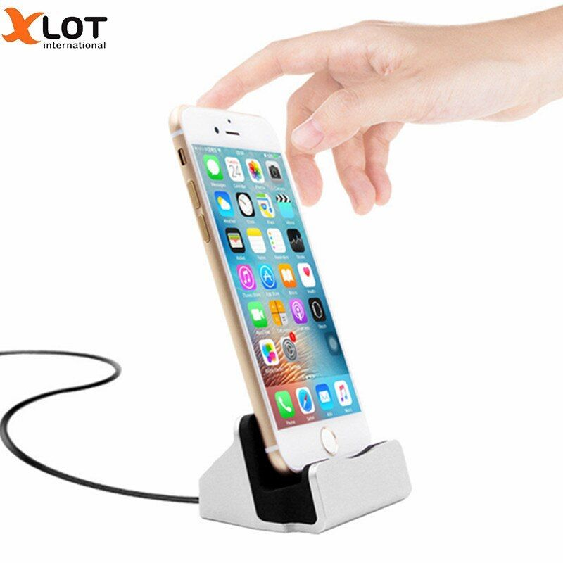XLOT Mobile Phone Magnet Charger Stand Charging Dock Station Desktop Charger for iPhone 5 5s 6 7 Plus Magnetic Phone Charger