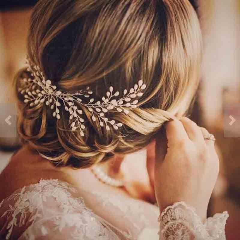Luxury Vintage Bride Hair Accessories 100% Handmade Pearl Wedding Hair Jewelry Party Pom Bridal Starry Hair Combs Pearl Tiara