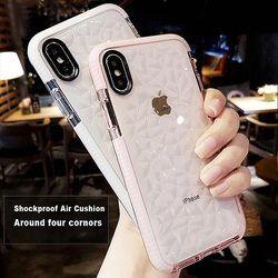 De haute Qualité Souple En Silicone Antichoc Protecteur Cas pour Apple iPhone 7 Plus X 8 6 s 7 Plus Coque Funda Clair 360 pare-chocs